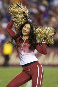 Redskins Cheerleader (vertical)