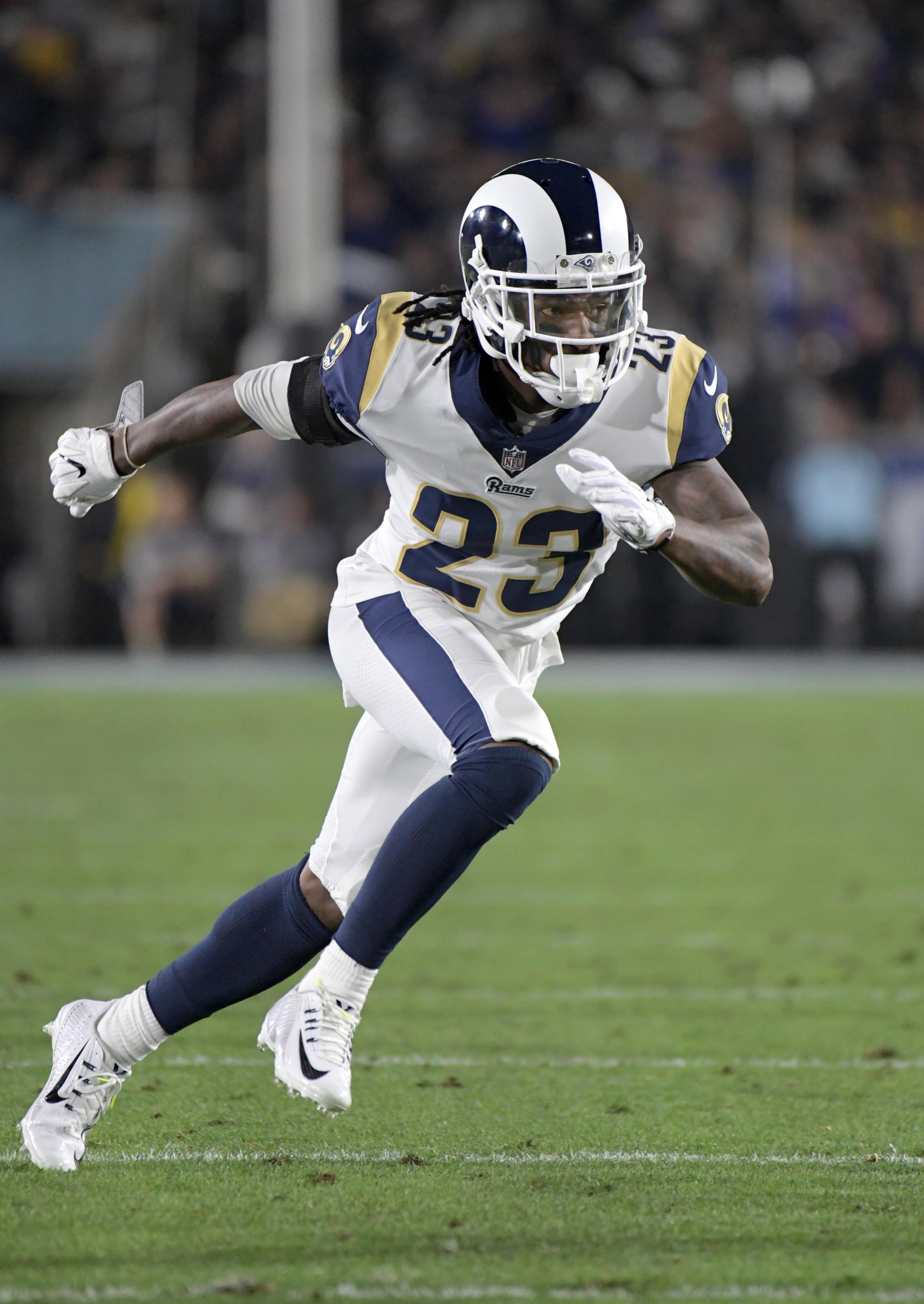 502bc718 ... The Rams have completely revamped and reloaded their secondary this  offseason. Los Angeles acquired Marcus Mens Nike Limited Marcus Peters ...