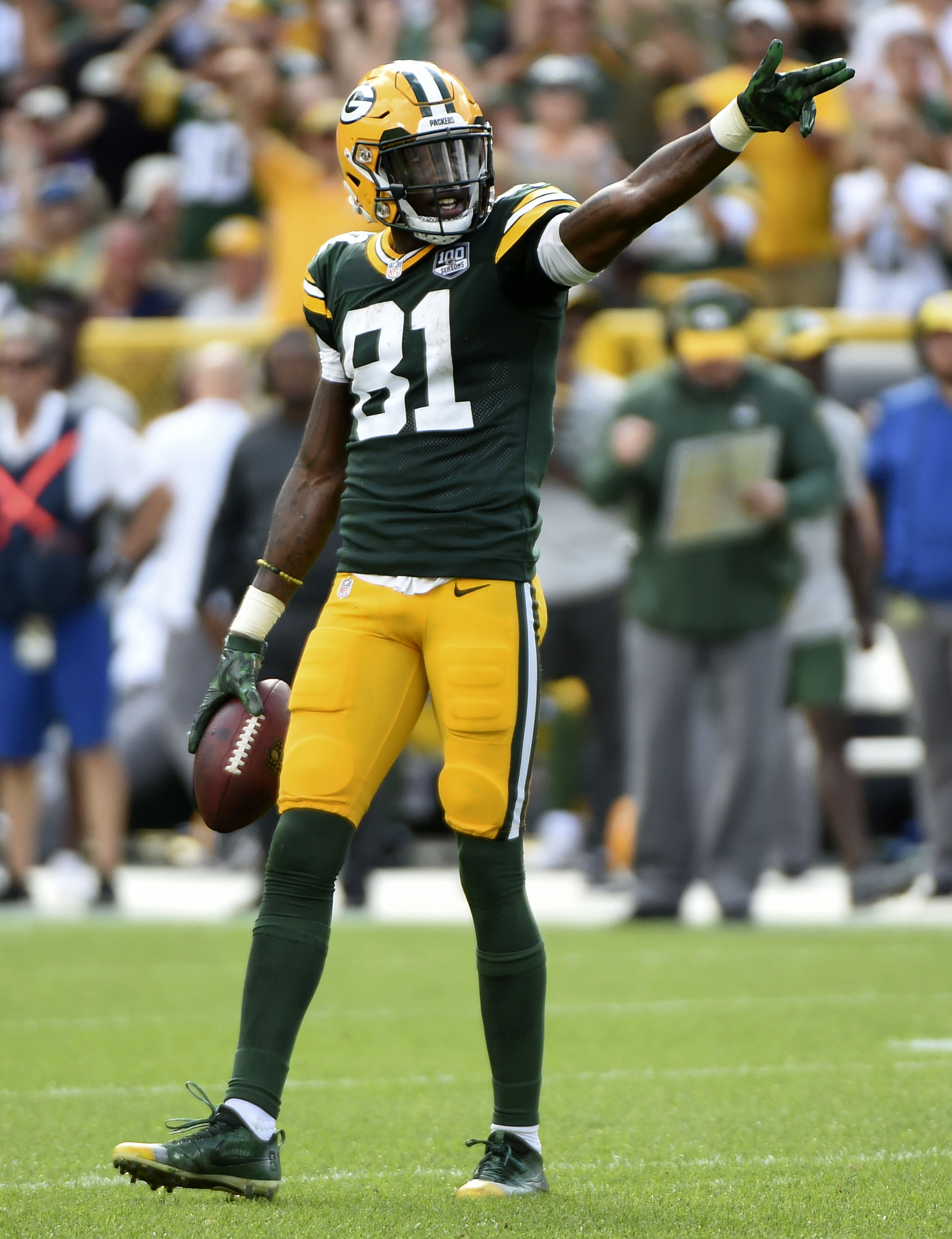 1b42a80ab19 The Packers have tendered restricted free agent wide receiver Geronimo  Allison at the original round level