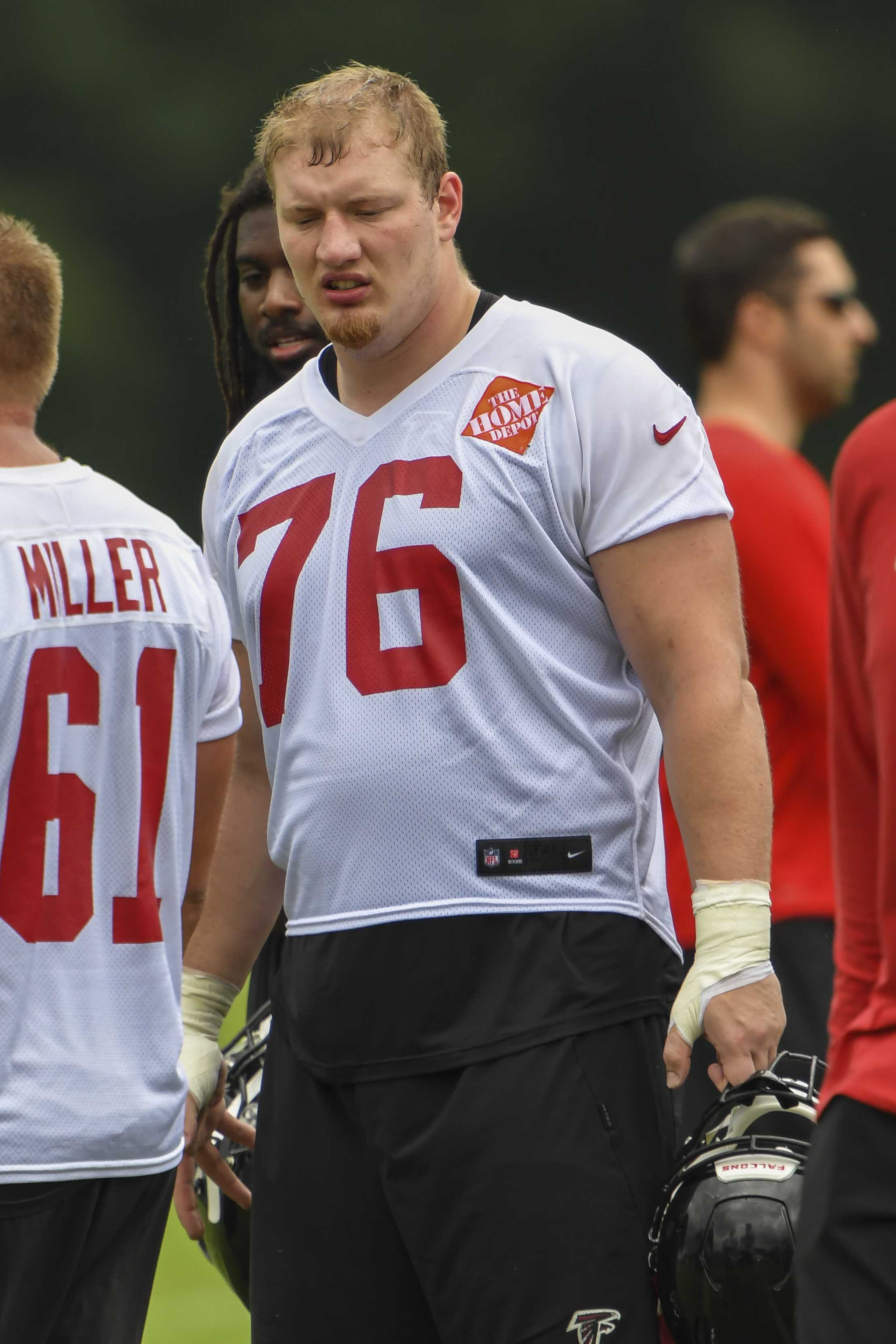 competitive price 5a1eb f63d3 Falcons' OL Kaleb McGary Returns To Full Practice